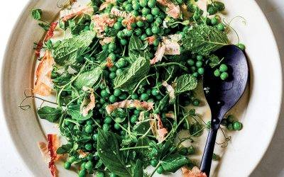 Recipe : CBD Infused Spring Peas with Bonito and Garlic