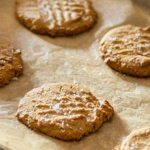 CBD Maple Peanut Butter Sea Salt Cookies