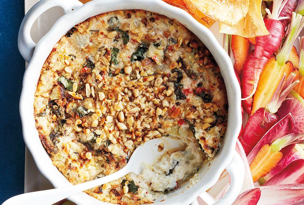 Swiss Chard, Kale and Artichoke Dip