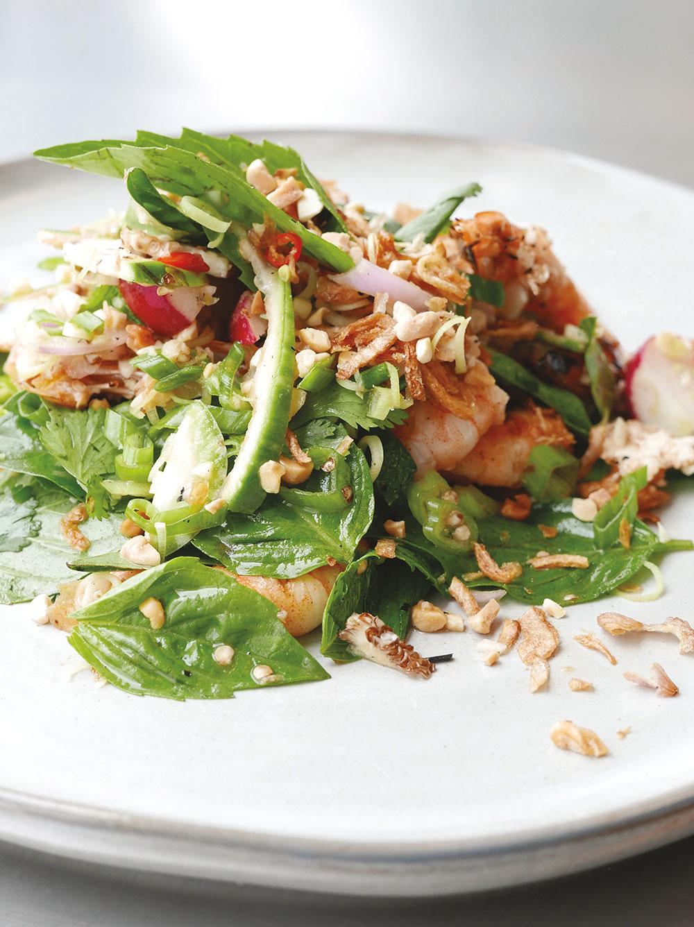 Cambodian Grilled Shrimp Salad