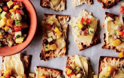Recipe : Infused Matchos with Brie and Pineapple Mango Avocado Salsa