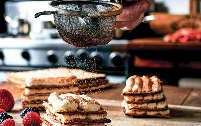 Recipe : Infused Matzo Tiramisu Napoleons