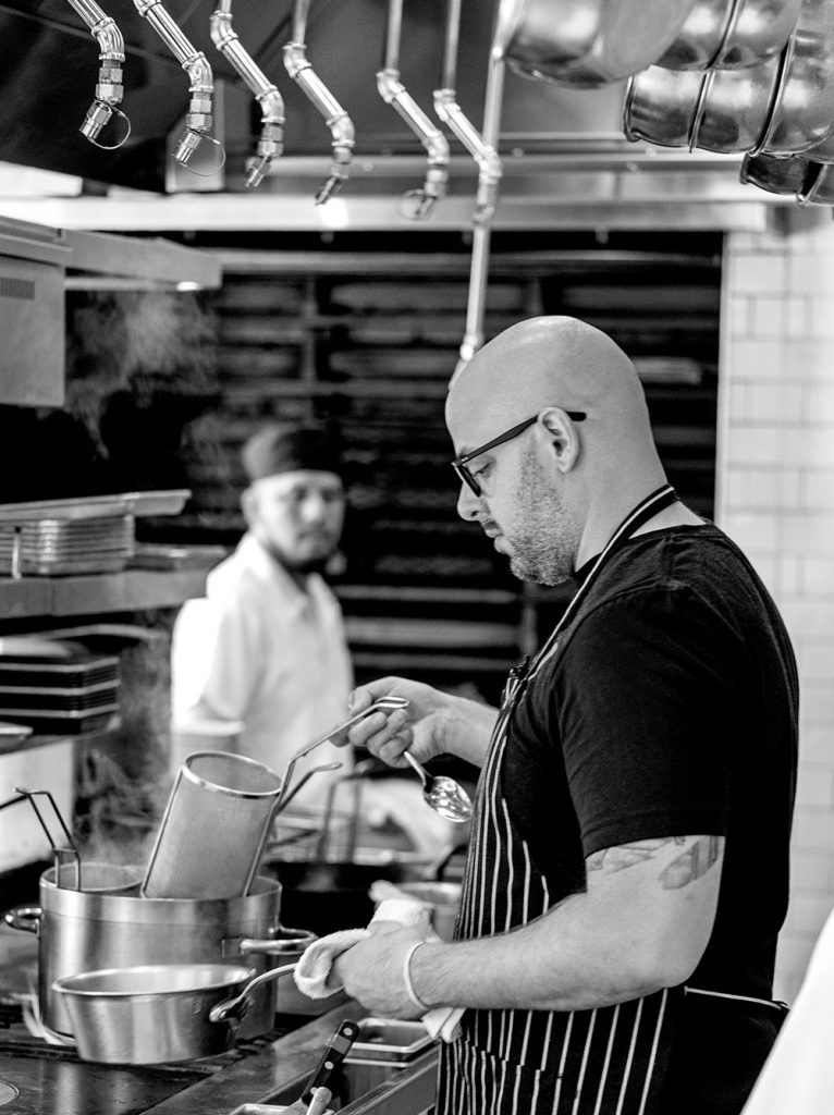 Chef Chris Pandel at his restaurant in Chicago