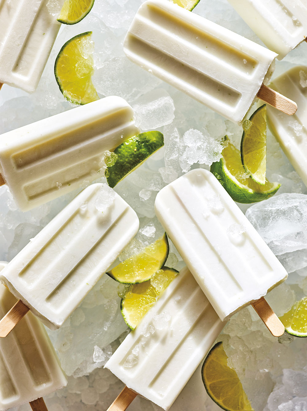 Infused Coconut Lime Ice Pops