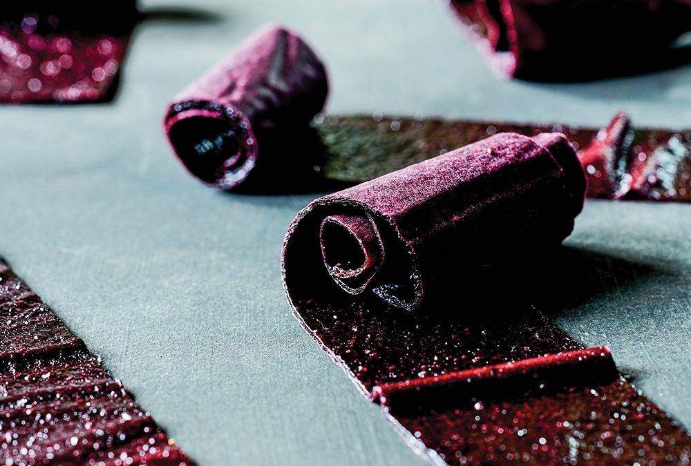 Recipe : Infused Minted Wild Blueberry Fruit Leather