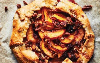 Peach, Cherry and Bacon-Glazed Pecan Galette