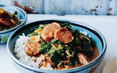Smoked Chicken, Andouille and Greens Gumbo