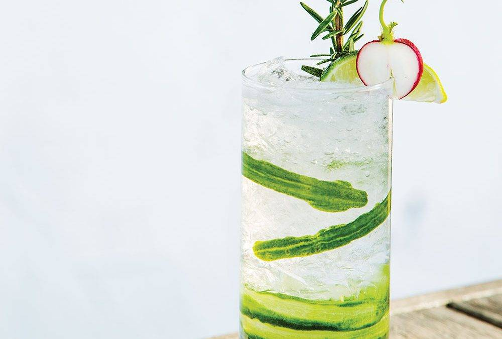 Recipe : Infused Rosemary Radish and Cucumber Gimlet