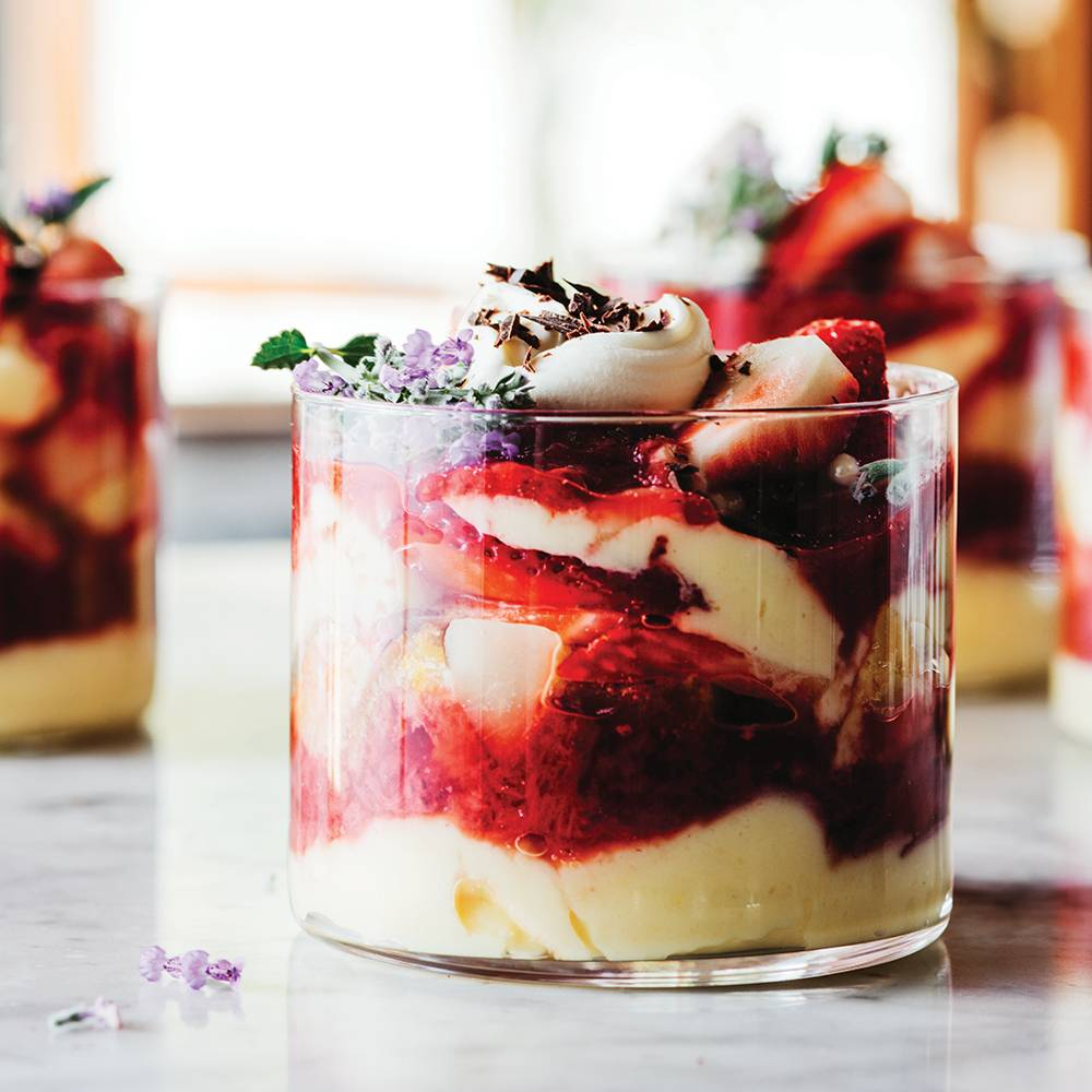 Infused Strawberry Lychee Trifles