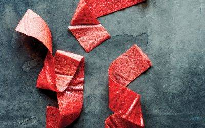 Recipe : Infused Strawberry Rhubarb Fruit Leather