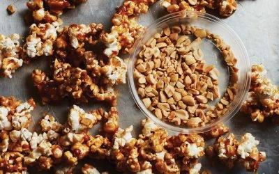 Canna Taffy Apple Popcorn Clusters