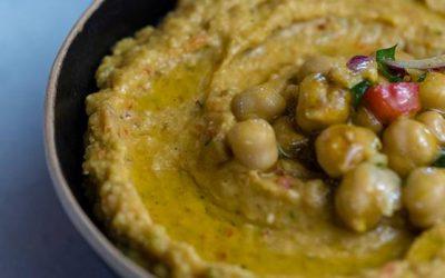 CBD infused chickpea salad and hummus