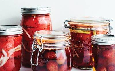 Pickled Grapes and Peppers