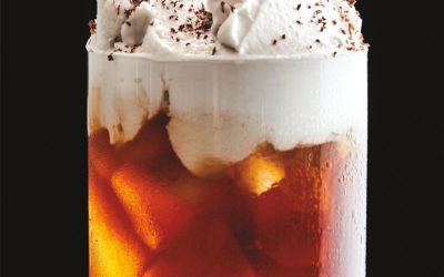 Cardamom Cold Brew Coffee with Coconut Whipped Cream