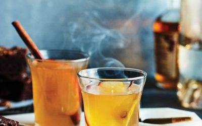 CBD infused apple brandy cocktail