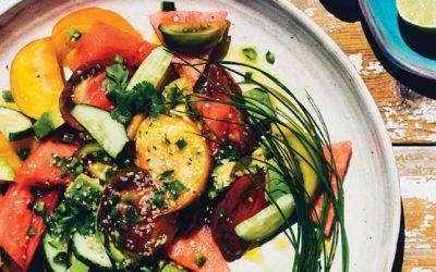Restorative Heirloom Tomato, Watermelon, and Avocado Salad
