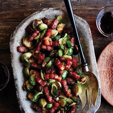 Recipe: Seared Brussels Sprouts with Infused Honey'd Lardons
