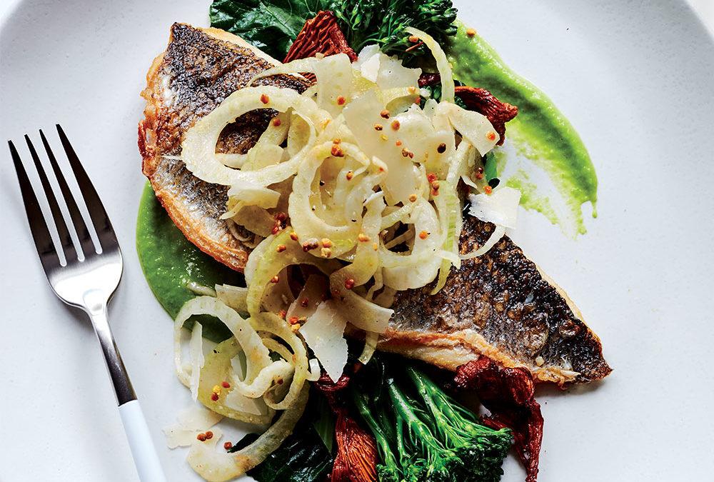 THC Infused Fish Branzino Fennel Slaw