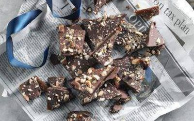 Infused Chocolate Almond Butter Toffee