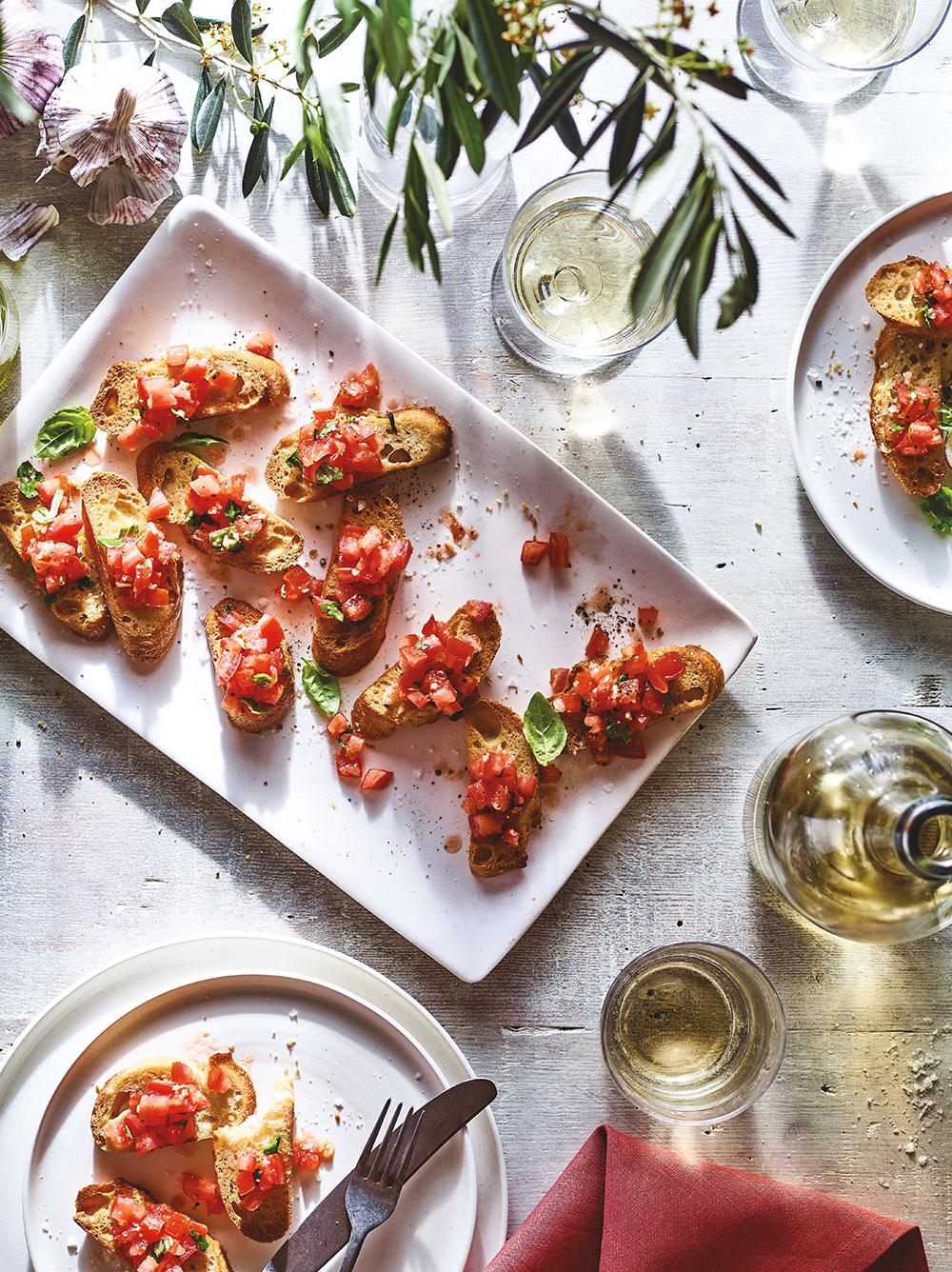 Tomato Crostini Infused Olive Oil