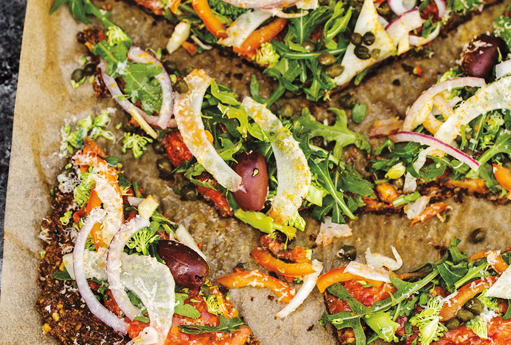 Vegan, Gluten-Free, Low-Bake Flatbread