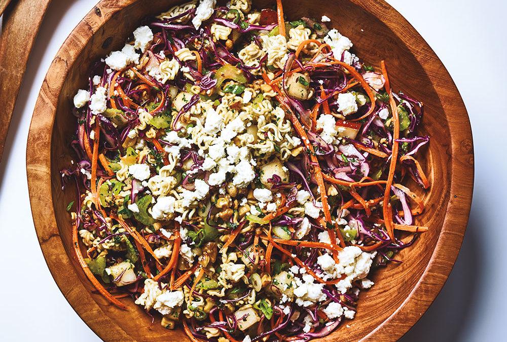 Cannabis Infused Autumn Ramen Pasta Salad