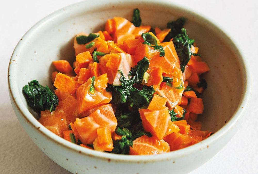 Raw Salmon Stew