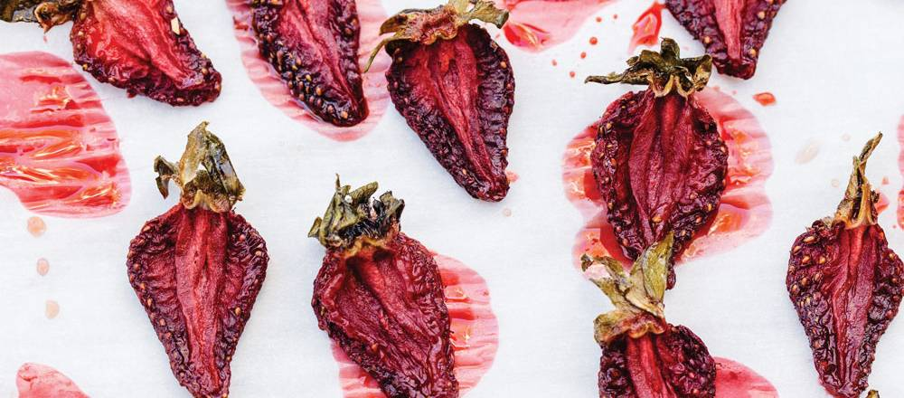 CBD infused dehydrated strawberries
