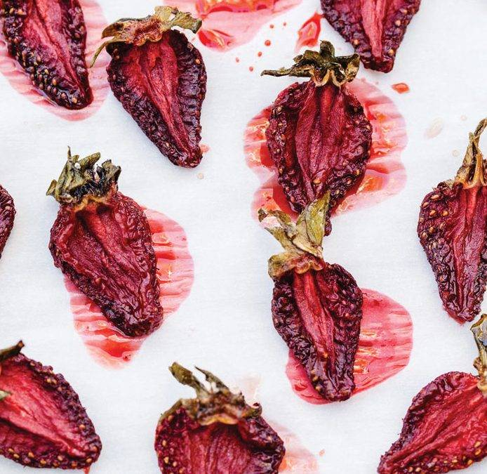 Recipe: CBD Infused Dehydrated Strawberries