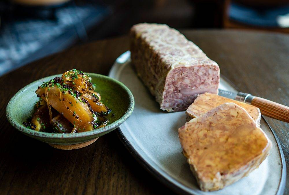 Recipe:  Game Bird Terrine Mustard Apples