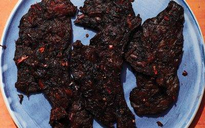Sweet and Spicy Harissa Jerky
