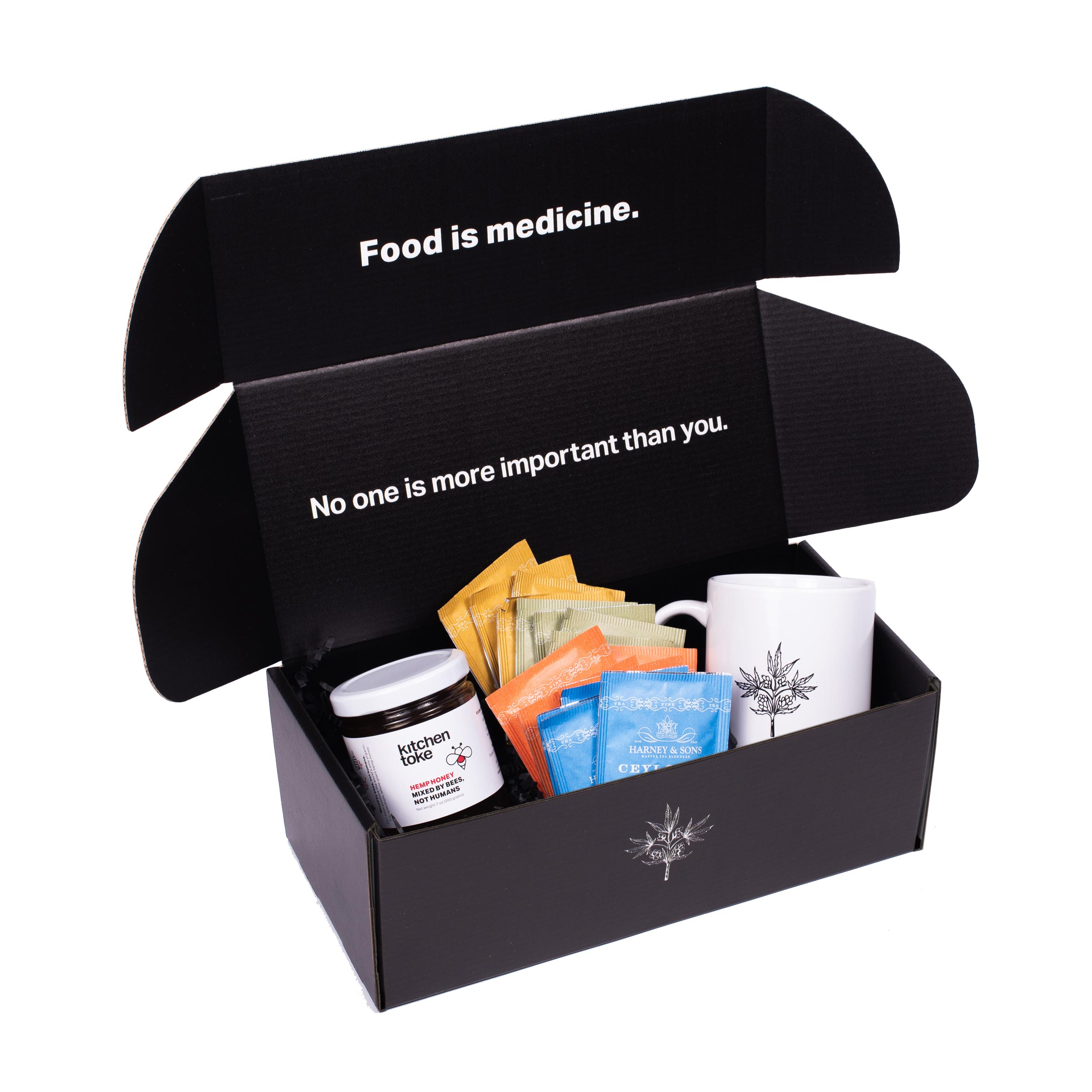 Kitchen Toke Gift  Box with Honey, Tea, and Cup