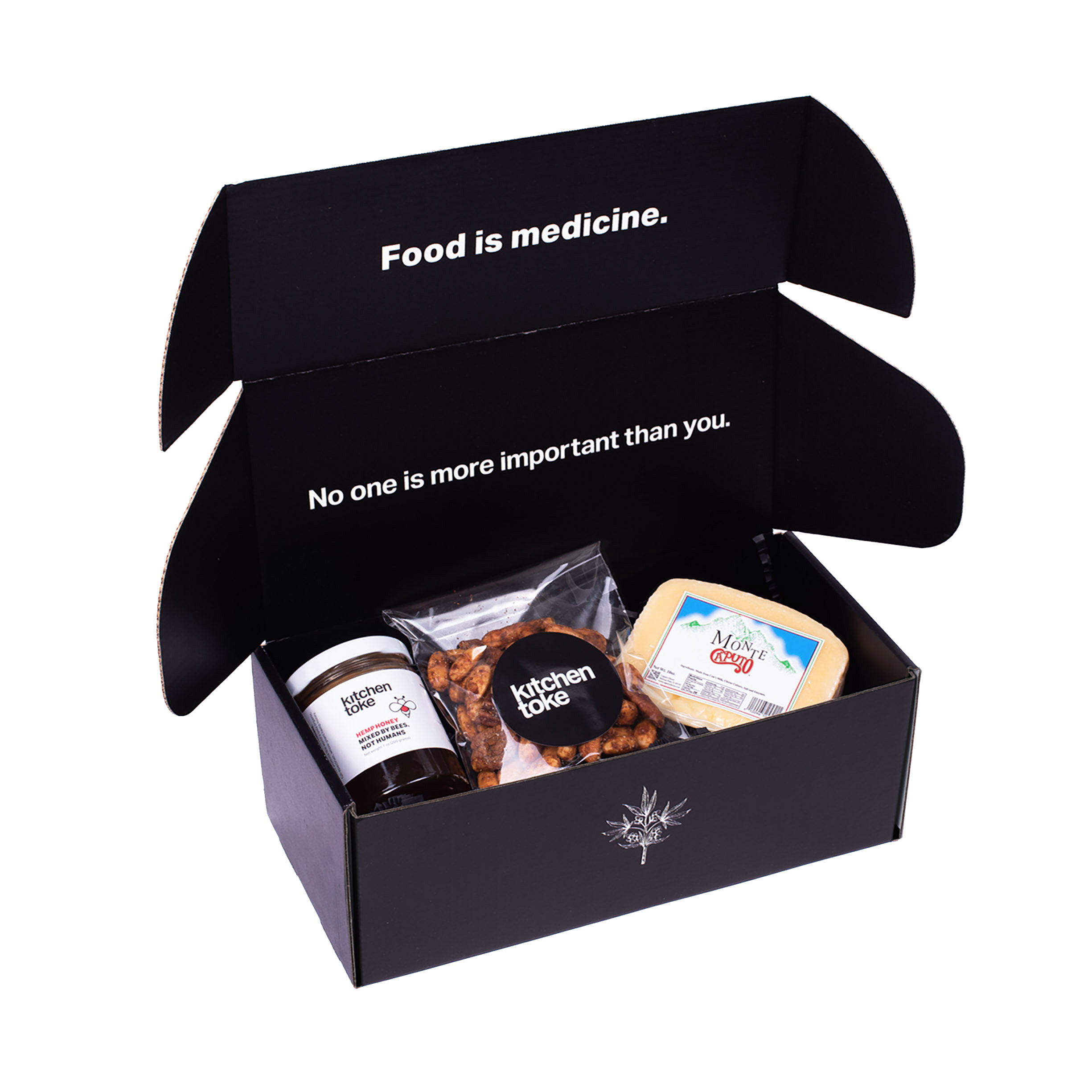 Kitchen Toke Gift  Box with Honey, Nuts and cheese