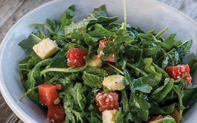 Watermelon Salad With Red Belly Honey Vinaigrette