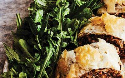 Recipe : Wild Mushroom Strudel with Cannabis Leaves